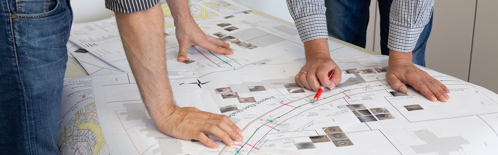 Planung im Ingenieurbüro