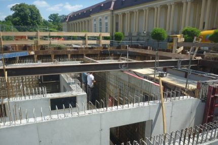 Ansbach - Pumpstation im Bau