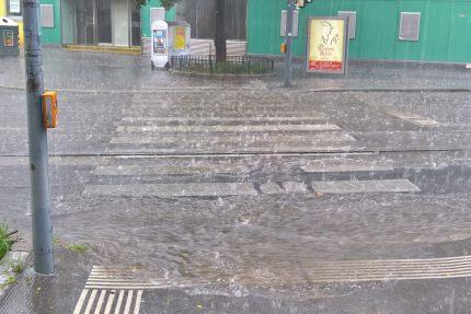 Starkregen in der Stadt neu