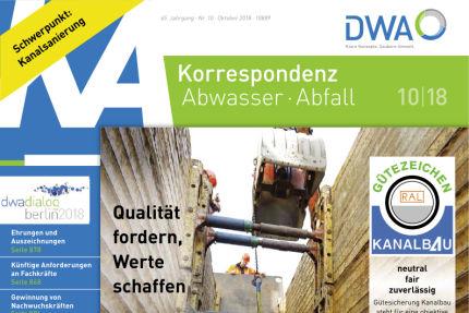 Korrespondenz Abwasser Heft 10.2018