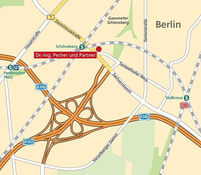 Lageplan Berlin – Dr.-Ing. Pecher und Partner