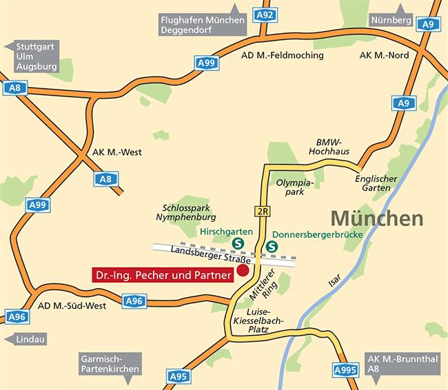 Lageplan München – Dr.-Ing. Pecher und Partner
